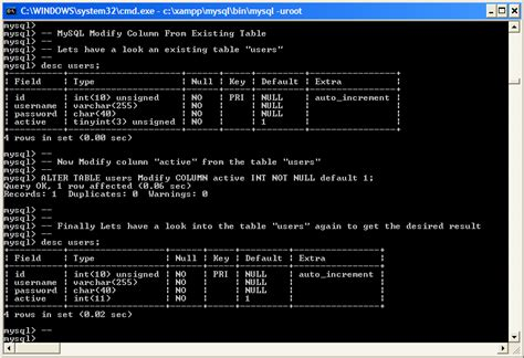 Mysql Create Table From Select by Exles Modify Column From Mysql Existing Table Exle