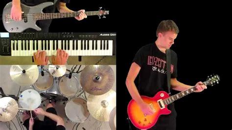 Keyboard Drumband since i ve been loving you led zeppelin guitar bass