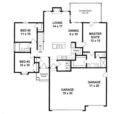 square feet of 3 car garage plan 1279 1200 sq ft house plan with 3 car garage and