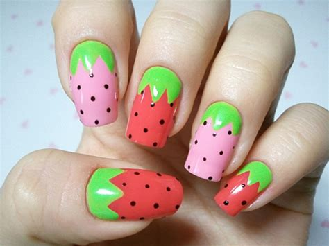 fruit nail art tutorial easy 19 interesting fruit nail designs