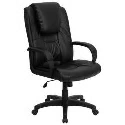 Office Chair Swivel Arms High Back Black Leather Executive Swivel Office Chair With
