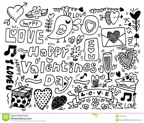 s day doodle stock photos image 17261523