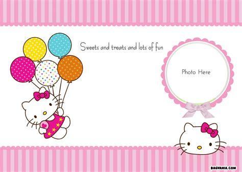 hello kitty stationery printable free printable hello kitty birthday invitations bagvania