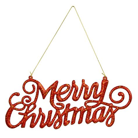9 quot merry christmas hanging ornament sign red 239603