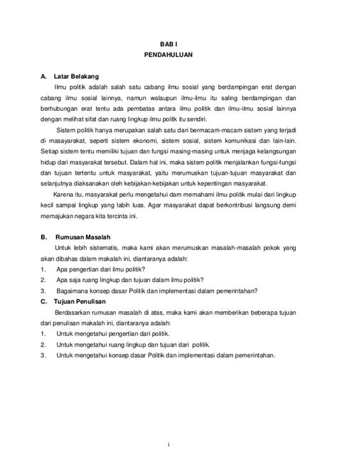 format penulisan latar belakang skripsi makalah ilmu politik 3