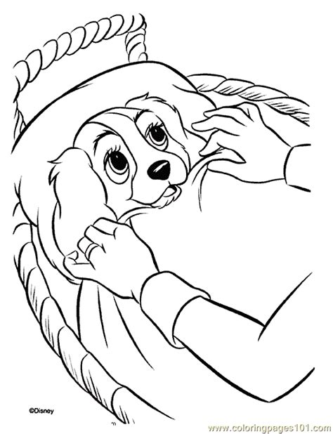 disney dogs coloring pages lady and the tr coloring pages coloring pages
