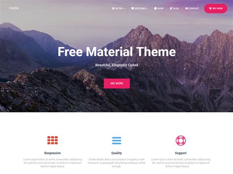 wordpress themes material design free 30 best free one page wordpress themes 2018 athemes