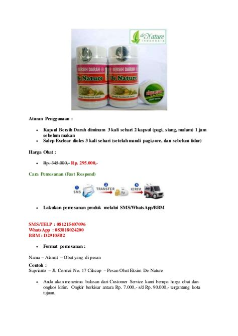 Salep Exclear obat eksim de nature indonesia bersih darah dan salep exclear