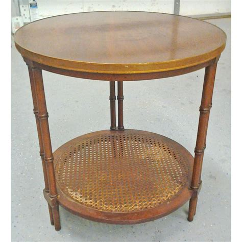small bamboo table small ll bean style oak and wicker table