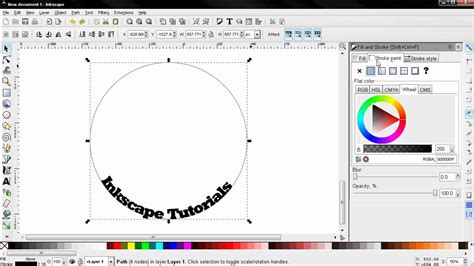 inkscape guides tutorial how to put text on path tips and tricks inkscape