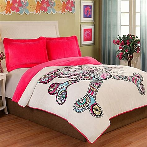 punk comforter punk love velvet plush comforter set in pink www