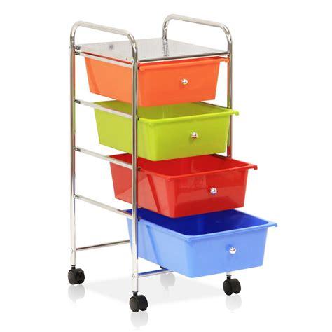 8 drawer rainbow cart furinno wayar 4 shelf chrome 4 wheeled 4 drawer trolley in