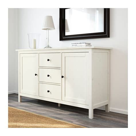 Hemnes Sideboard White Stain 157x88 Cm Ikea Buffet Tables Ikea