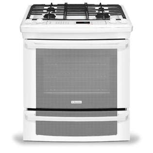 Oven Gas Sharp ei30gs55lw electrolux convection slide in electric range 30 in 4 2 cu ft in white sears