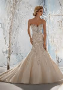 fit and flare wedding dress with straps naf dresses