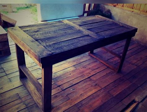 Pallet Wood Dining Table Plans