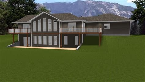 ranch house plans with walkout basement houses with walk out basements walkout basements house