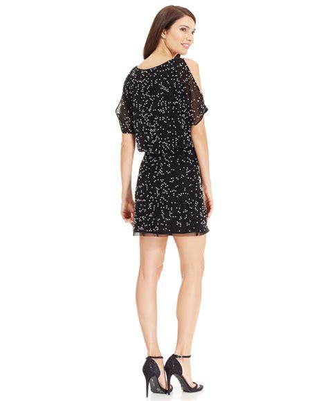 xscape beaded dress lyst xscape beaded halter gown in black