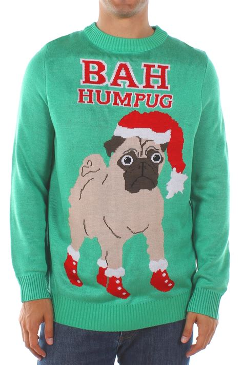 bah humbug pug sweater scrooge and humbug clothes and accessories