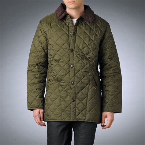 Olive Quilted Jacket by Barbour Quilted Jacket In Green For Olive Lyst