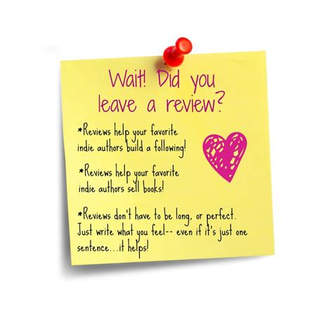 the you left a novel wait did you leave a review