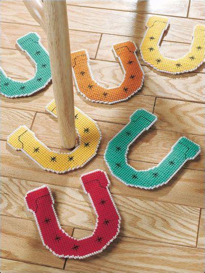 Rainy Day Horseshoes Plastic Canvas Crafts Plastic