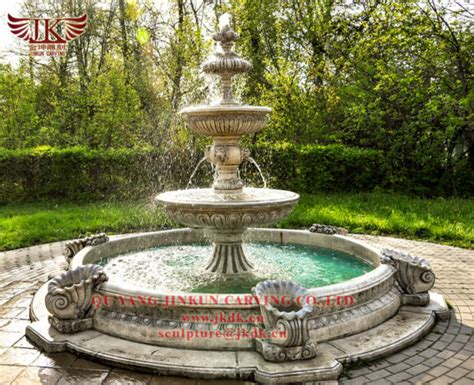 large marble water fountains  garden decoration
