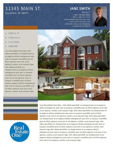 Property Flyer Publisher Templates Reo Family Marketing Microsoft Publisher Real Estate Flyer Templates