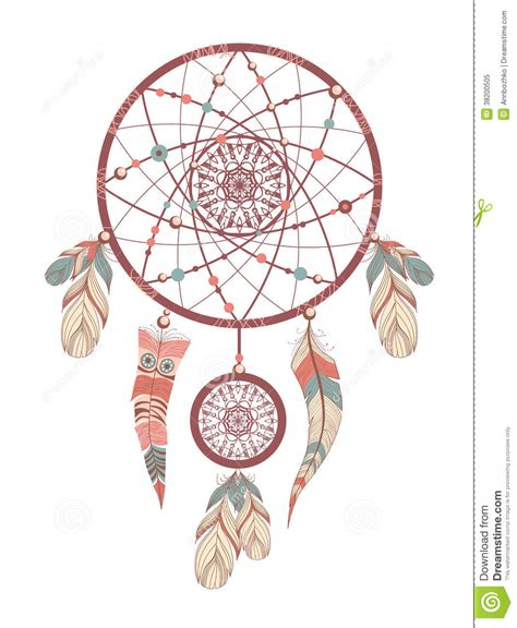 dream catcher romantic stock vector illustration of