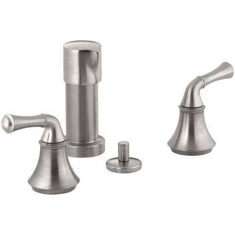 bidet leaking kohler forte 2 handle bidet faucet in vibrant brushed