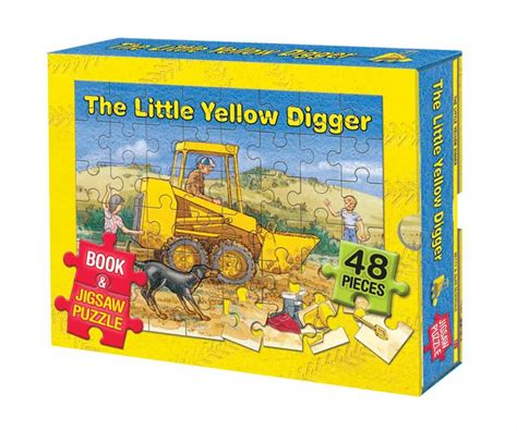 the digger s books yellow digger book and jigsaw box set scholastic
