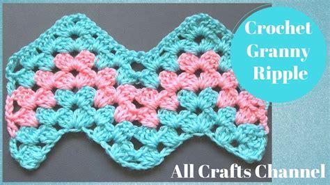 free crochet pattern on youtube how to crochet granny ripple pattern youtube