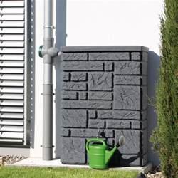 garten regentonne regentonne eckig wandtank maurano 300l black granit