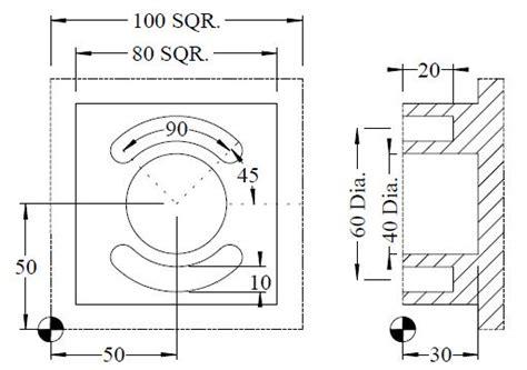 external stud circular pocket  circular slot exercise