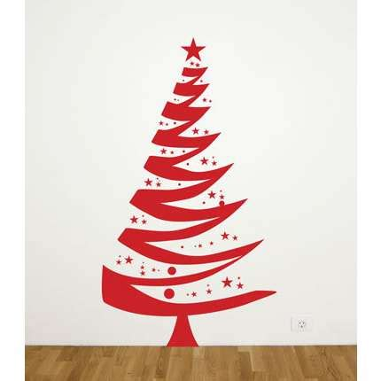 Christmas Tree Wall Stickers Christmas Tree Wall Decal Thisnext