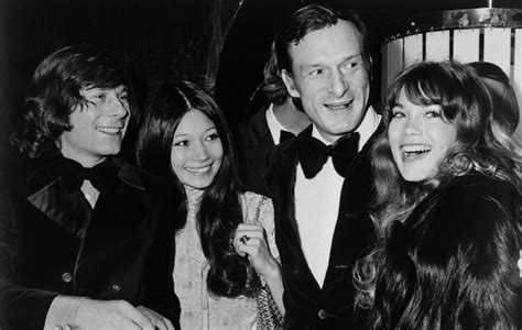 barbi benton and hugh hefner original caption new york city four for the flick