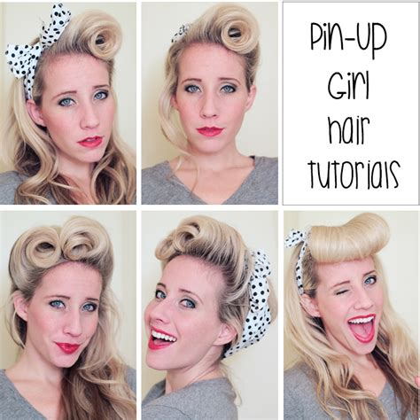 Pin Up Hairstyle Tutorial by Pin Up Hair Tutorials Twist Me Pretty