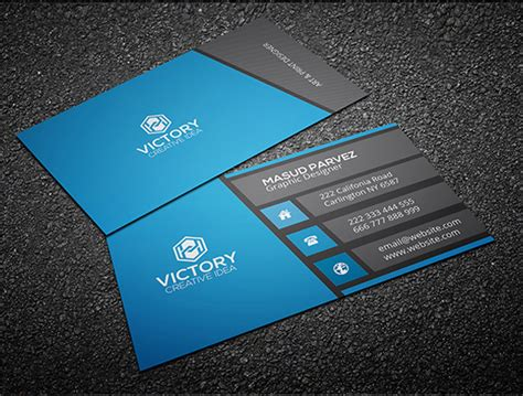 card free free business cards psd templates print ready design