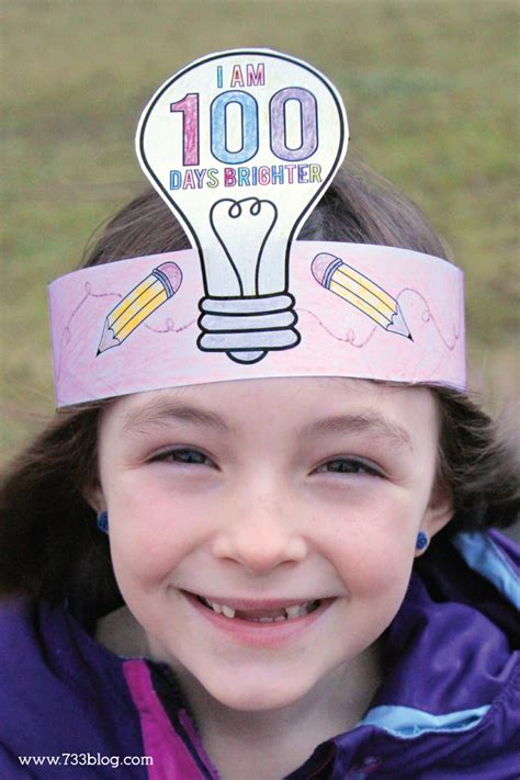 100th day of school crown template 100 days of school necklace inspiration made simple