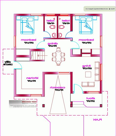 2 Bhk House Plans 800 Sqft House Plans 800 Sq Ft India