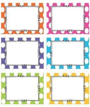 printable jotter labels free polka dot classroom labels church ideas pinterest