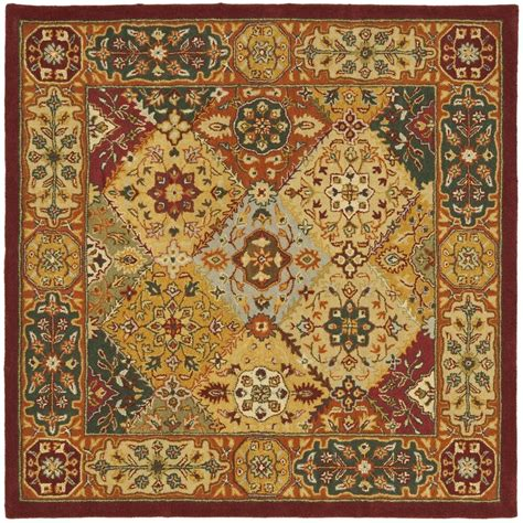 Square Carpets Rugs by Safavieh Heritage Multi Colored Wool Area Rug 4 Square