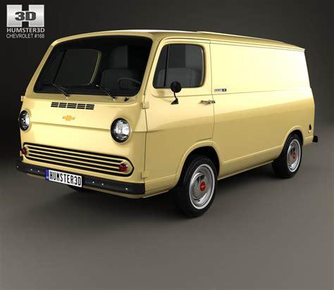 van chevrolet chevrolet g10 chevy van 1966 3d model humster3d