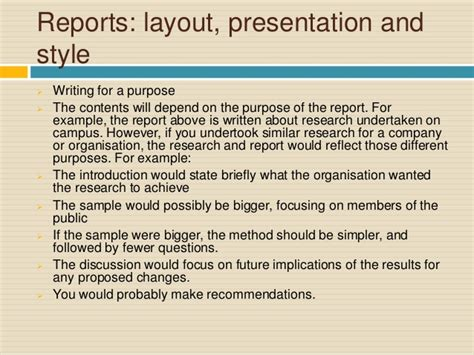 layout of a report writing report writing for academic purposes