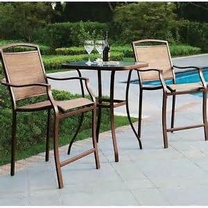 Outdoor Bistro Table Set Bar Height Bar Height Bistro Set 3pc Table Chair Patio Furniture Outdoor Backyard Pool Deck Ebay