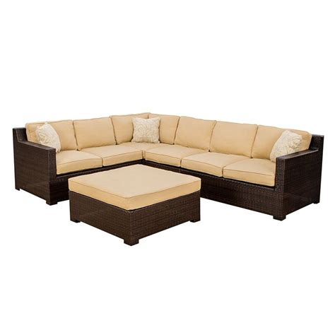 Shop Hanover Outdoor Furniture Metropolitan 5 Piece Wicker Patio Furniture 5 Set