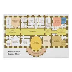 House Diagram Floor Plan by Diagram Of The Second Floor Of The White House Print Zazzle