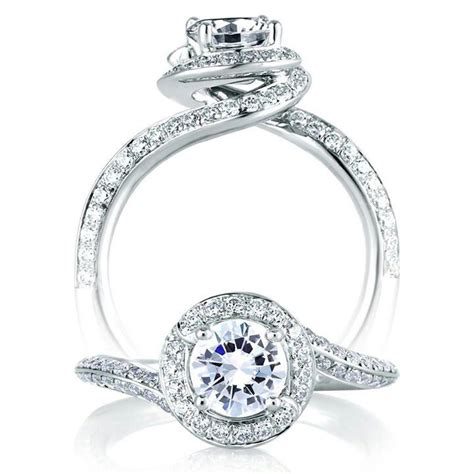 Halo Ring 1253 1253 best solitare images on rings