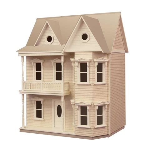 doll house kits princess anne dollhouse kit 94591 the home depot