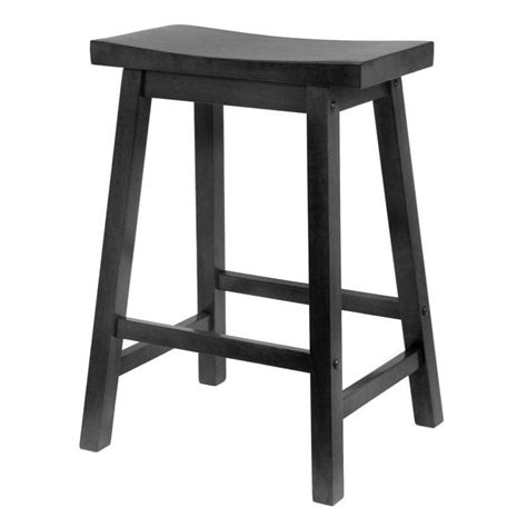 Black Saddle Seat Counter Stool by 24 Quot Counter Saddle Seat Bar Stool In Black 20084